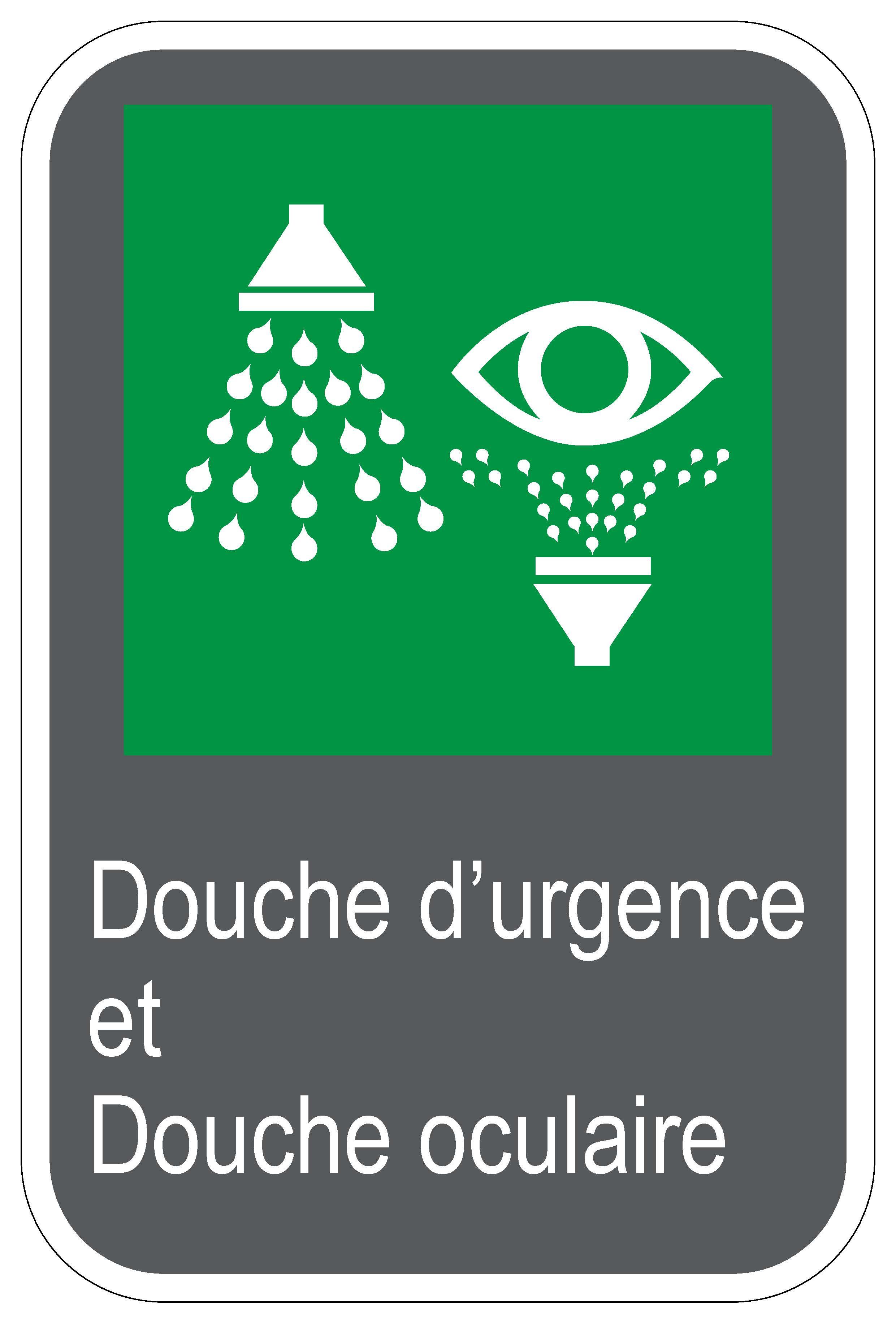 Panneaux NORME CSA Douche Durgence Et Douche Oculaire