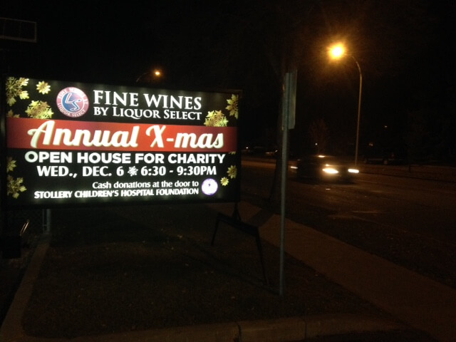 Illuminated Mobile Signs Edmonton