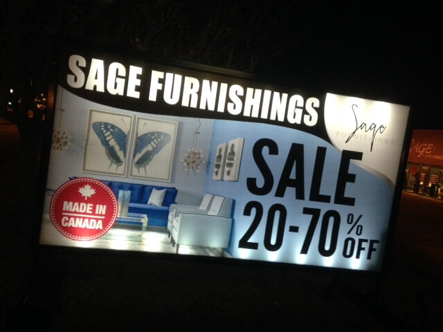 portable outdoor lighted signs