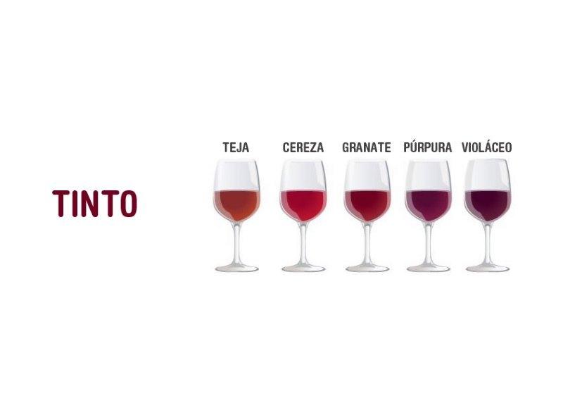 colores del vino tinto