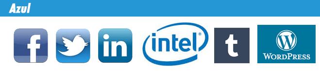 Logotipos de marcas de color azul