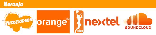 Logotipos de marcas de color naranja