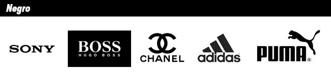 Logotipos de marcas de color negro