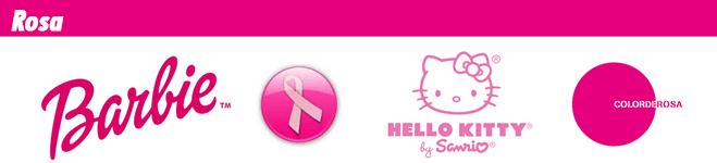 Logotipos de marcas de color rosa
