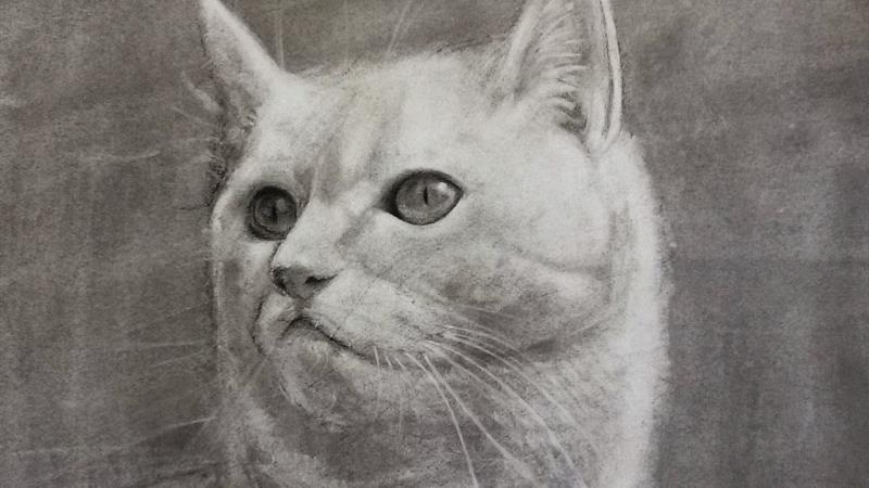 obra pictórica que utiliza el grisalla como técnica con el color gris como base