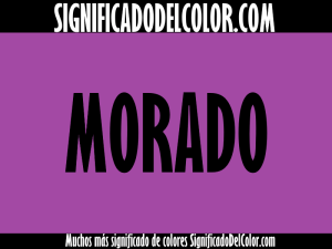 significado del color morado