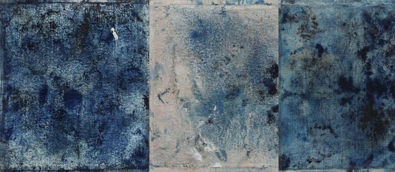 Ejemplo de obra de arte con tonos de color azul de prusia