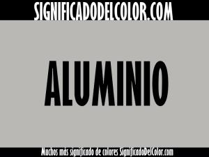 cual es el color aluminio