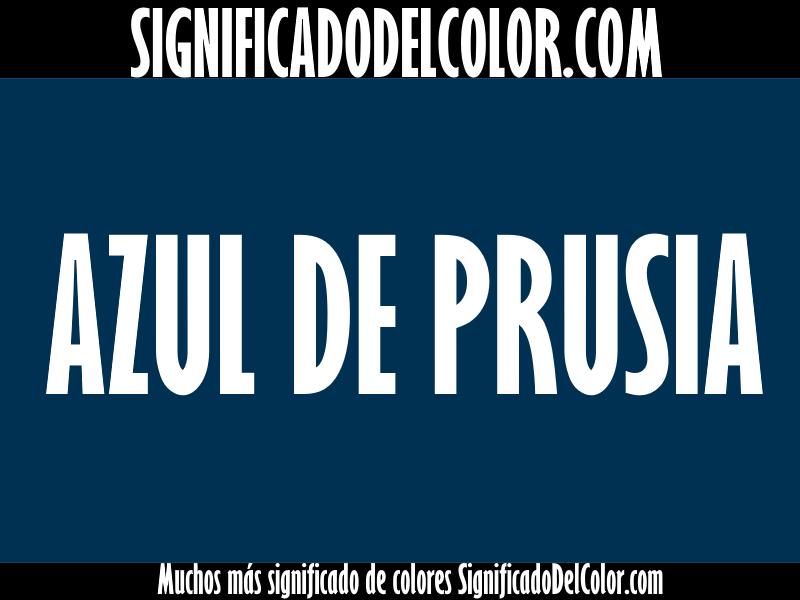 ¿Cual es el color Azul de Prusia?