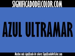 cual es el color azul ultramar