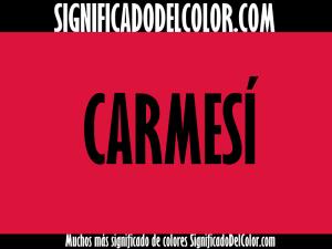 cual es el color carmesi