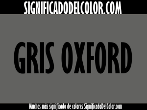 cual es el color gris oxford