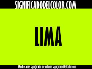 cual es el color lima
