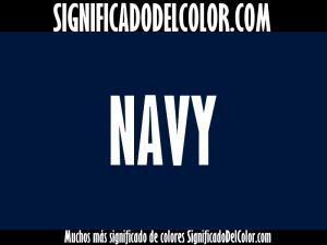 cual es el color navy