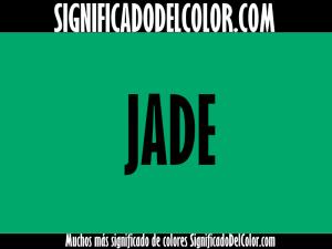 cual es el color verde jade