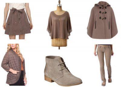 ejemplo de prendas en tonos taupe
