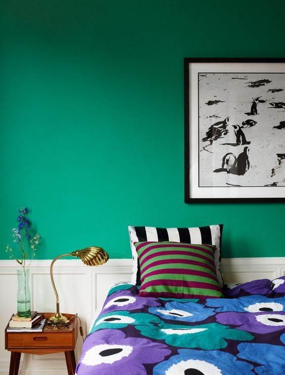 utilización del color verde jade en decoración