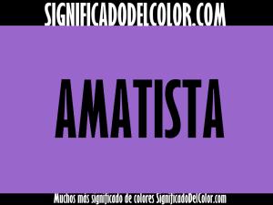 cual es el color amatista