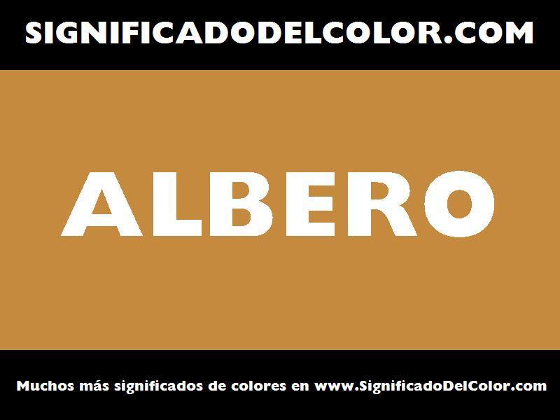 ¿Cual es el color Albero?