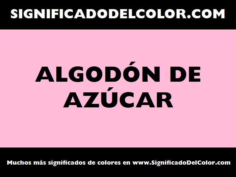 ¿Cual es el color Algodón de azúcar?