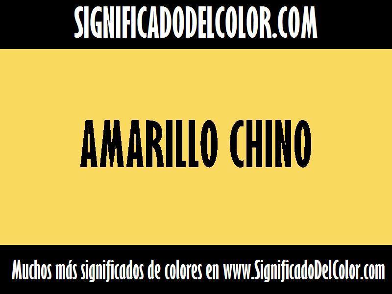 cual es el color Amarillo chino