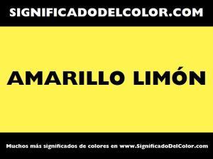 cual es el color amarillo limon