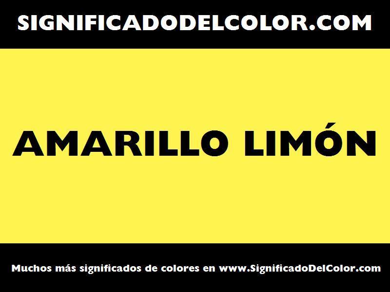 ¿Cual es el color Amarillo limón?