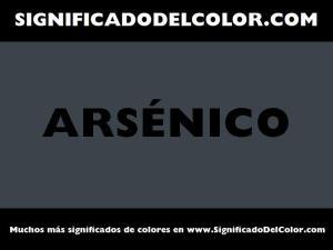 cual es el color arsenico