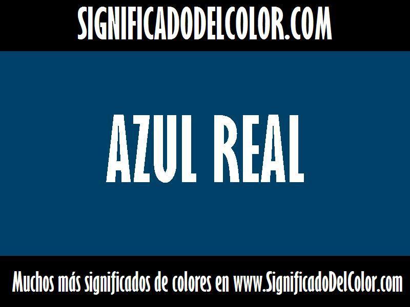 cual es el color Azul real
