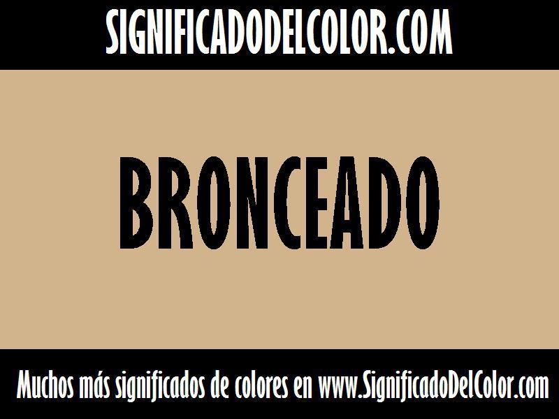 cual es el color Bronceado