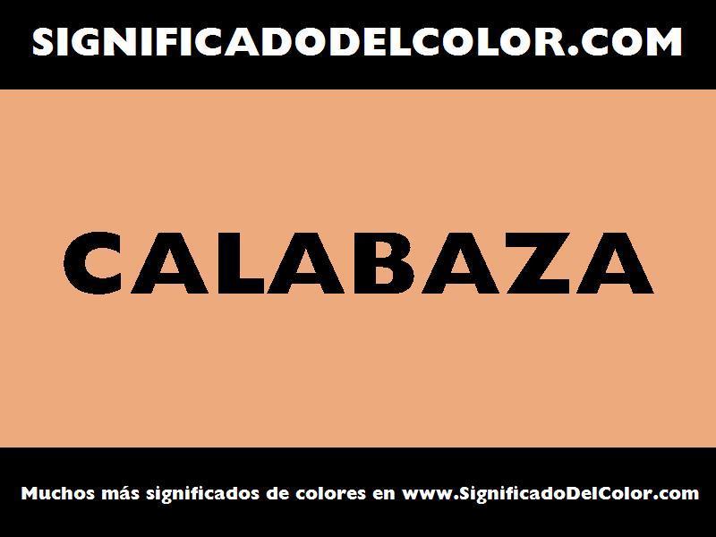 ¿Cual es el color Calabaza?