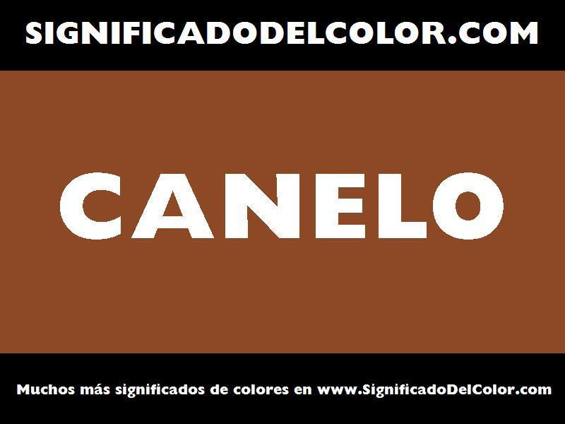 ¿Cual es el color Canelo?