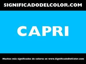 cual es el color capri