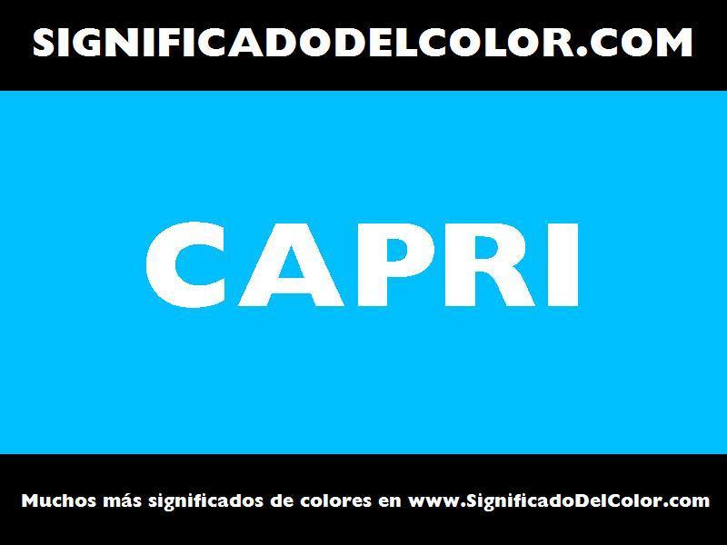 ¿Cual es el color Capri?