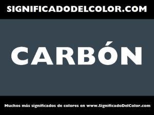 cual es el color carbon