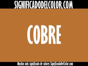 cual es el color cobre