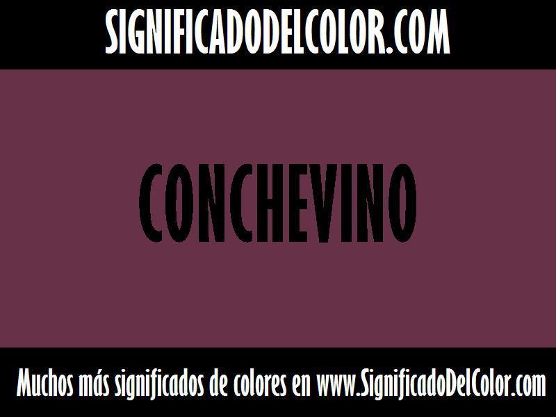 cual es el color conchevino