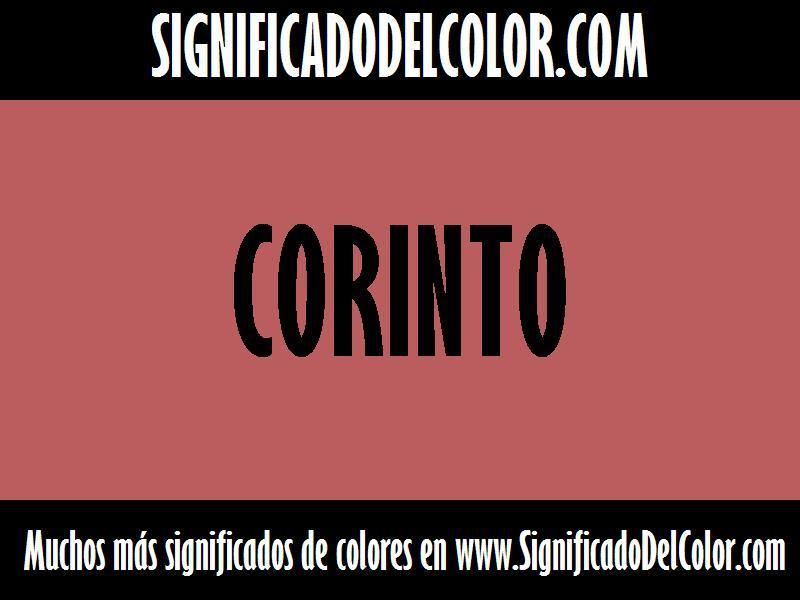 ¿Cual es el color Corinto?