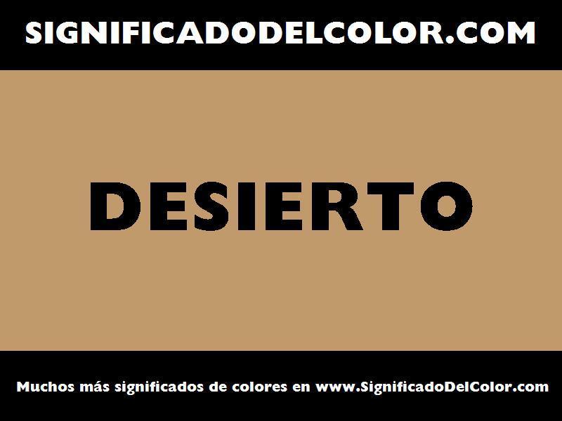 ¿Cual es el color Desierto?