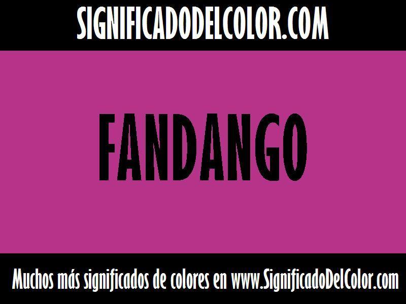 cual es el color Fandango