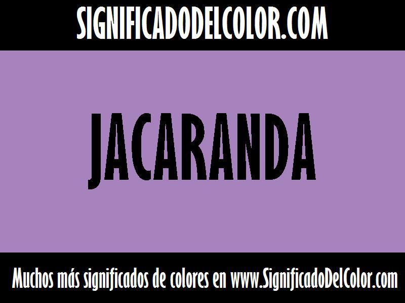 ¿Cual es el color Jacaranda?