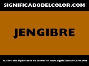 cual es el color jengibre
