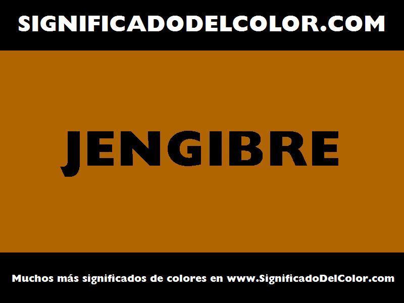 ¿Cual es el color Jengibre?