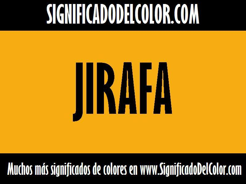 ¿Cual es el color Jirafa?