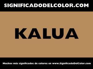 cual es el color kalua