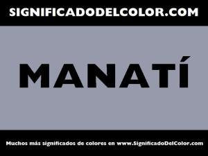 cual es el color manati
