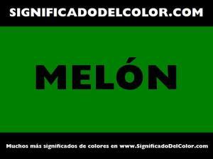 cual es el color melon