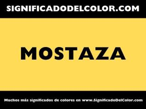 cual es el color mostaza