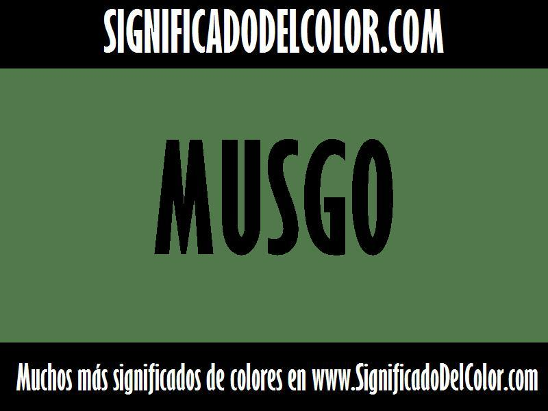 ¿Cual es el color Musgo?