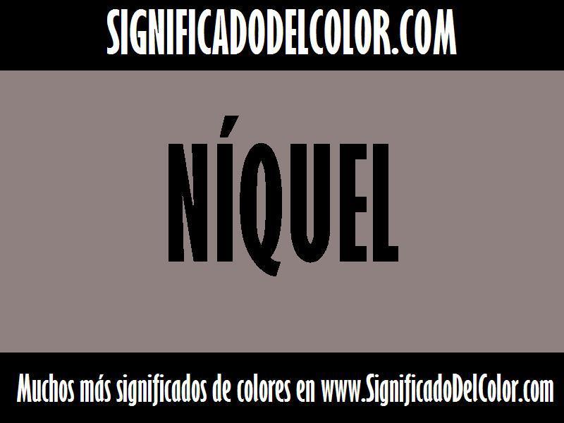 cual es el color Níquel